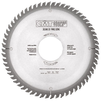 Panel sizing sawblades