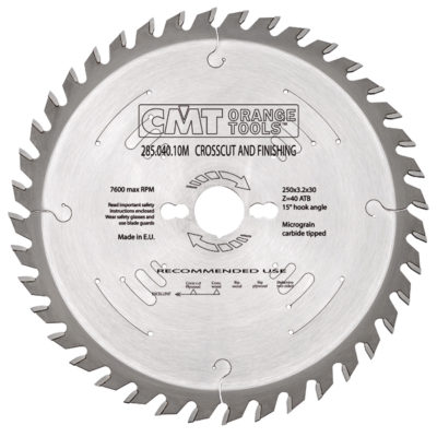 Rip and Cross cut sawblade HW 260x2