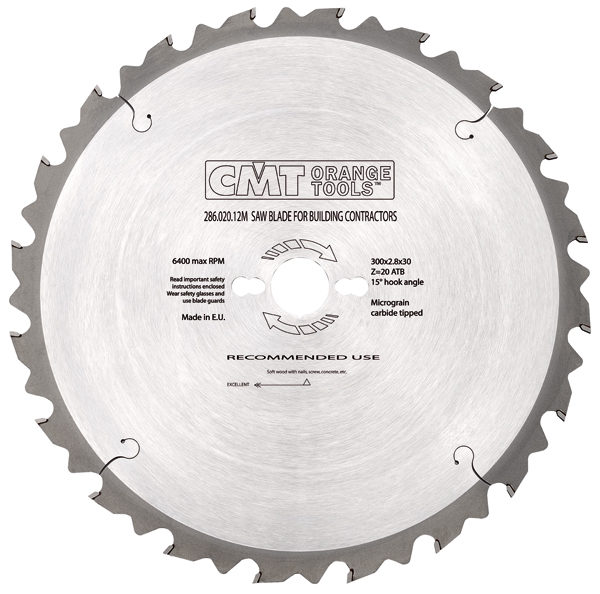 Saw blade for building contractors HW ATB 400x3