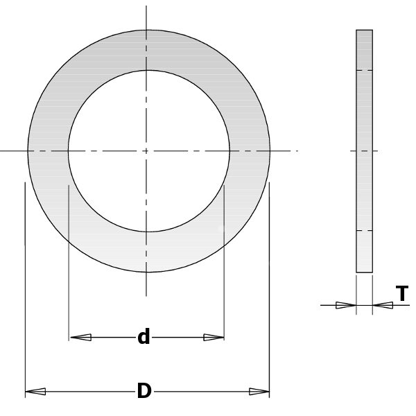 Reduction rings for sawblades Ø30