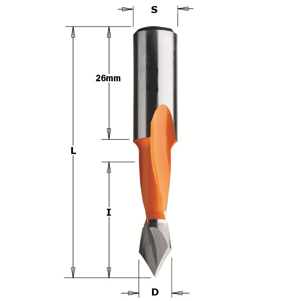 Through hole dowel drill HW 10