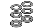 Spacers set Ø70-Ø50 9 mm
