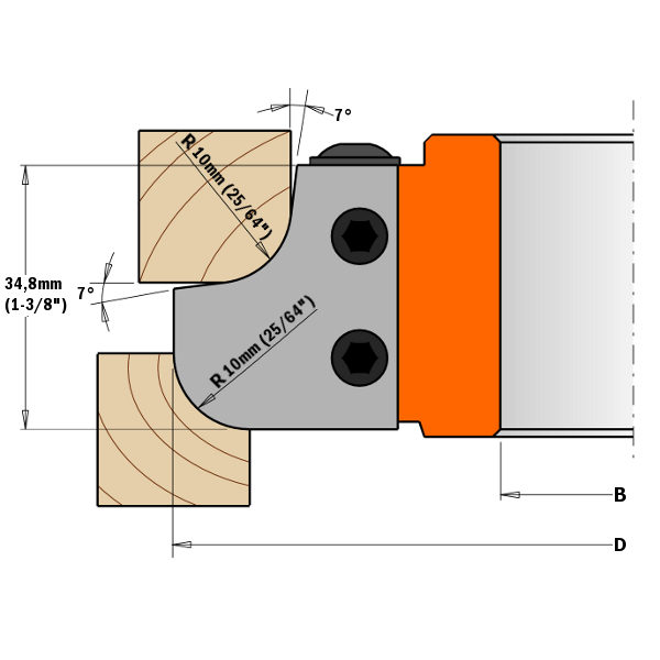 Reversible knives HW 40x30x2 (1 pair) for cutter 694.007