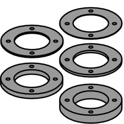 Spacers set Ø65-Ø30 w pinholes 8 mm