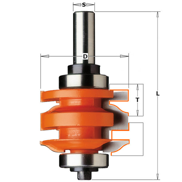RAIL & STILE ROUTER BIT HW Z=2 Profile A