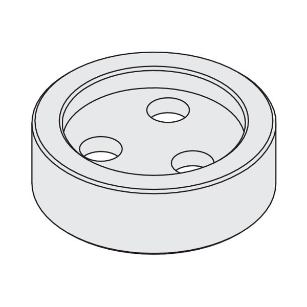 Steel flange ø40 female for cutter arbor 183.362.00