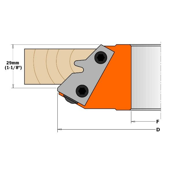 Rev.knives HW 42x33x2 (1 pair) for 45° miter cutter 694.011